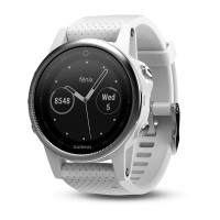 Garmin Fenix 5S Silver with Carrara White Band (έως 12 ΑΤΟΚΕΣ ΔΟΣΕΙΣ)