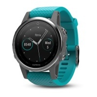 Garmin Fenix 5S Silver with Turquoise Band (έως 12 ΑΤΟΚΕΣ ΔΟΣΕΙΣ)