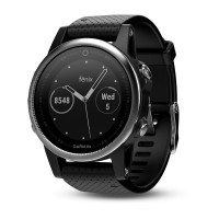 Garmin Fenix 5S Silver with Black Band (έως 12 ΑΤΟΚΕΣ ΔΟΣΕΙΣ)