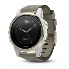 Garmin Fenix 5S Sapphire Champagne with Grey Suede Band