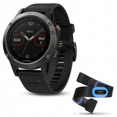 Garmin Fenix 5 Slate Grey with Black Band Performer Bundle