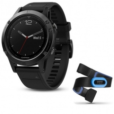 Garmin Fenix 5 Sapphire Black with Black Band Performer Bundle