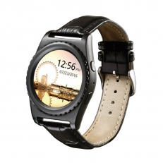 Q8 Heart Rate Smart Watch Δερμάτινο