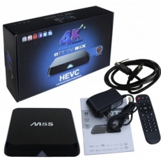 M8s TV BOX Android QUAD CPU 2 GHZ HD 8GB - 2GB RAM - OCTACORE ΓΡΑΦΙΚΑ - Μετατροπή TV σε SMART - KODI - 4K - Android 4.4 OEM