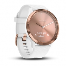 Garmin vivomove HR Sport Rose Gold with White Silicone Band (Small/Medium)Garmin vivomove HR Sport Rose Gold with White Silicone Band (Small/Medium)